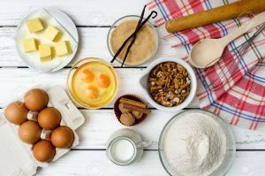 ingredients for baking a cake