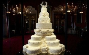 intracate royal bridal cake